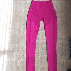 PINK LULULEMON ALL THE RIGHT PLACES SIZE 4
